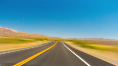 Death valley summer day road trip panorama 4k time lapse california usa Stock Footage