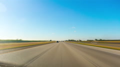 summer day road trip car drive traffic panorama 4k time lapse usa - stock footage