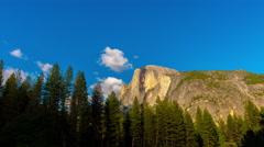 summer day sunset half dome mountain yosemite panorama 4k time lapse usa - stock footage