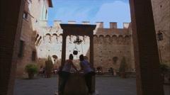 Palazzo Chigi Saracini in Siena, Tuscany, Italy Stock Footage