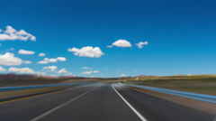 summer day blue sky road trip car drive panorama 4k time lapse california usa - stock footage