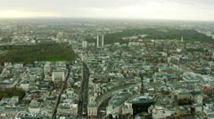 Aerial view of famous tourism sights City of London UK - stock footage