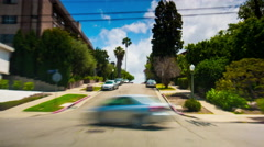 Los angeles beverly hills summer day road trip traffic 4k time lapse usa Stock Footage