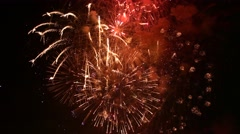 Fireworks finale Stock Footage