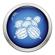 Icon of Gooseberry Stock Illustration