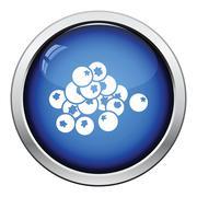 Icon of Blueberry Stock Illustration