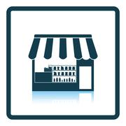Tent shop icon Stock Illustration