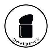Make Up brush icon - stock illustration