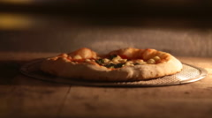 Italian Pizza in oven - stock footage
