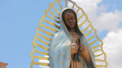 Statue of the Virgin Guadalupe Stock Footage