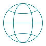 Earth globe diagram icon Stock Illustration