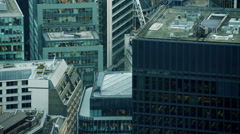 Aerial view of buildings in English Capital City London Stock Footage