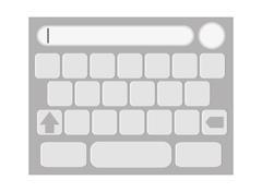 touchscreen keyboard icon - stock illustration