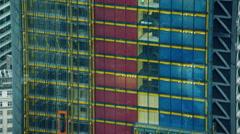 Aerial view of buildings in Metropolitan city of London Stock Footage