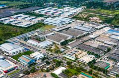 Industrial estate land development heavy industry and auto manufacturer Kuvituskuvat