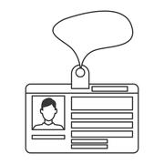 personal identification card icon - stock illustration