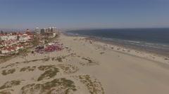 Aerial Coronado Beach, San Diego California Stock Footage