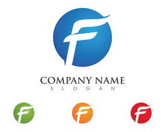 F Letter Faster the future Logo Stock Illustration