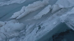 Large blocks of ice crack near Holy Nose Peninsula Stock Footage