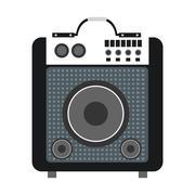 concert speakers icon - stock illustration