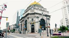 New York Buffalo Savings Bank Stock Footage
