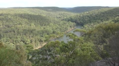 Protected Scenic Eucalyptus Forest Woodland and River in Australia - stock footage