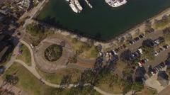 Aerial Embarcadero Marina Park North, San Diego California Stock Footage