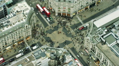 Aerial view of famous sights in Oxford Circus London UK - stock footage