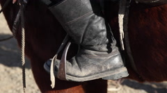 GOLDEN EAGLE HUNTER FESTIVAL HORSEMAN BOOT STIRUP - stock footage
