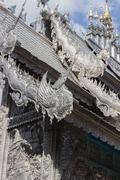 silver and aluminum asian church - stock photo