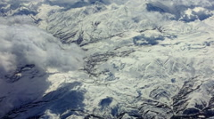 Flight over peak clouds sky. Aerial Turkey mountain nature HD video background Stock Footage