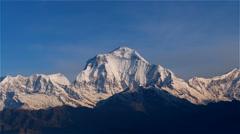 Sunrise Himalayas Nepal mountain peak Time-lapse HD video nature background - stock footage