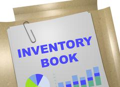 Inventory Book concept Stock Illustration
