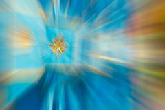 Blue,gold color stripe radial motion blur abstract Piirros
