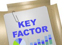 Key Factor concept Stock Illustration