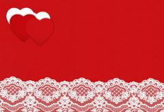 Felt Background for design to Valentine's Day with Hearts. Valentines Day con Stock Photos