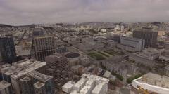 Aerial San Francisco County Clerk, California Stock Footage
