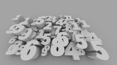 3D rendering of Abstract 3D numbers Stock Illustration