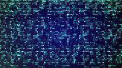 Abstract Blue Technology Background. Binary Computer Code. Programming / Codi - stock illustration