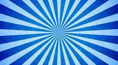Blue Sunbeams grunge background. A vintage poster. - stock illustration