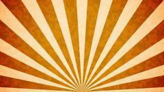 Orange Sun burst retro background design. Stock Illustration