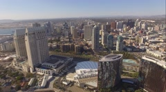 Aerial Down Town, San Diego California Stock Footage