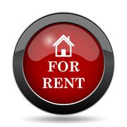 For rent icon. Internet button on white background.. - stock illustration