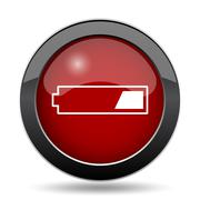 1 third charged battery icon. Internet button on white background.. - stock illustration