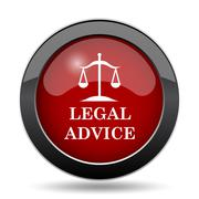 Legal advice icon. Internet button on white background.. - stock illustration