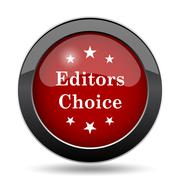 Editors choice icon. Internet button on white background.. Stock Illustration