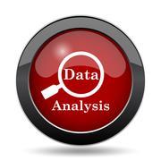 Data analysis icon. Internet button on white background.. Stock Illustration