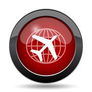 Travel icon. Internet button on white background.. - stock illustration