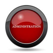 Administration icon. Internet button on white background.. - stock illustration