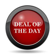 Deal of the day icon. Internet button on white background.. Stock Illustration